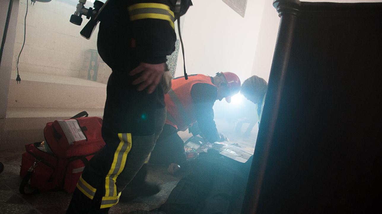 Ejercicio de evacuación en el Alcázar