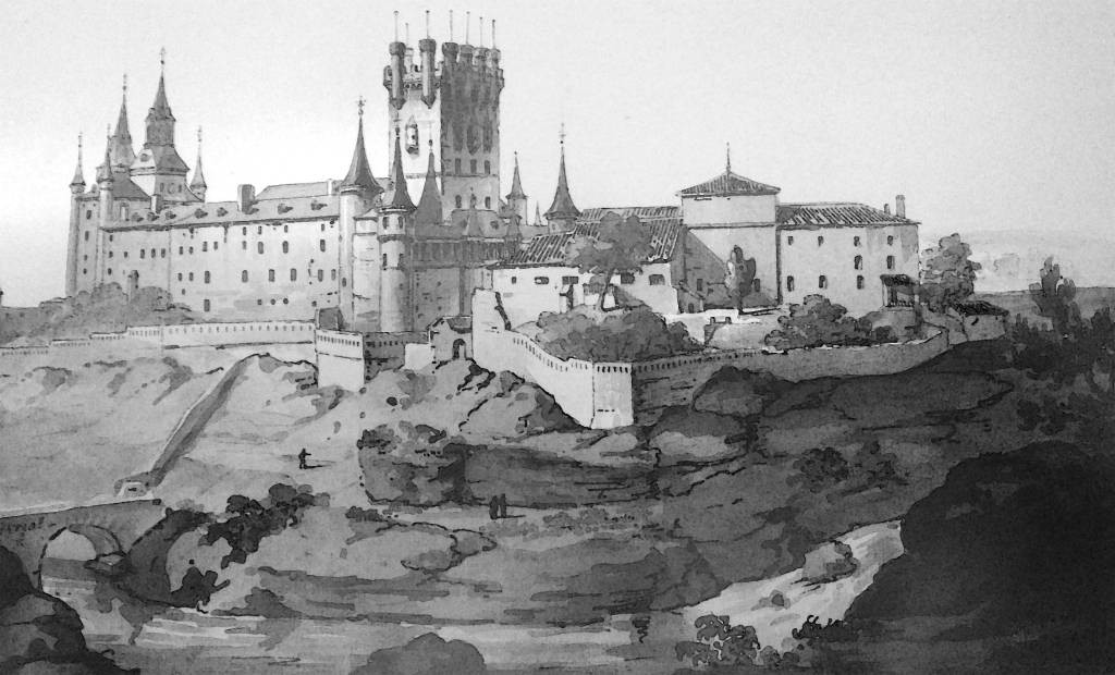 Grabado del Alcázar de José María Avrial 1864