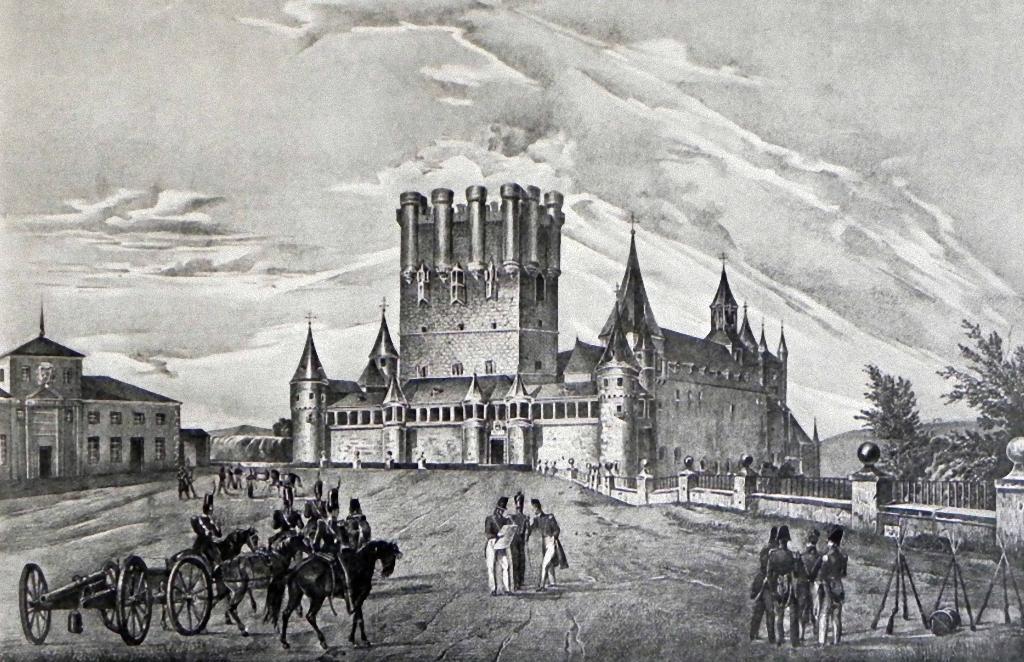 Engraving of the Royal College of Artillery in the Alcazar of Segovia