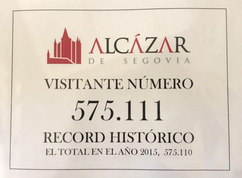 El Alcázar de Segovia bate su récord histórico de visitas