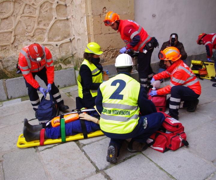 Simulacro en el Alcázar de Segovia 2018
