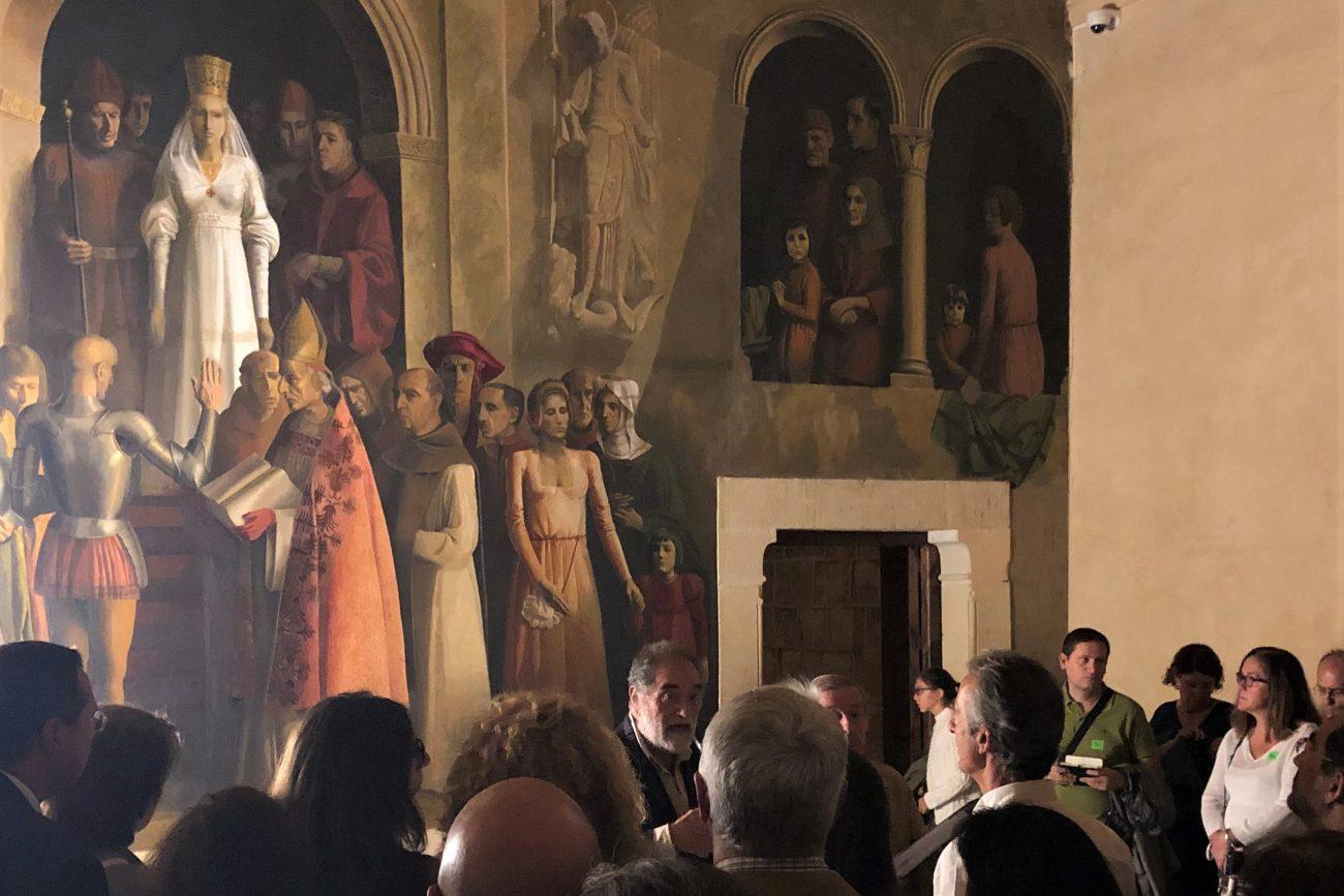 La proclamación de Isabel la Católica - Mural de la sala de la Galera en el Alcázar de Segovia, de Carlos Muñoz de Pablos.
