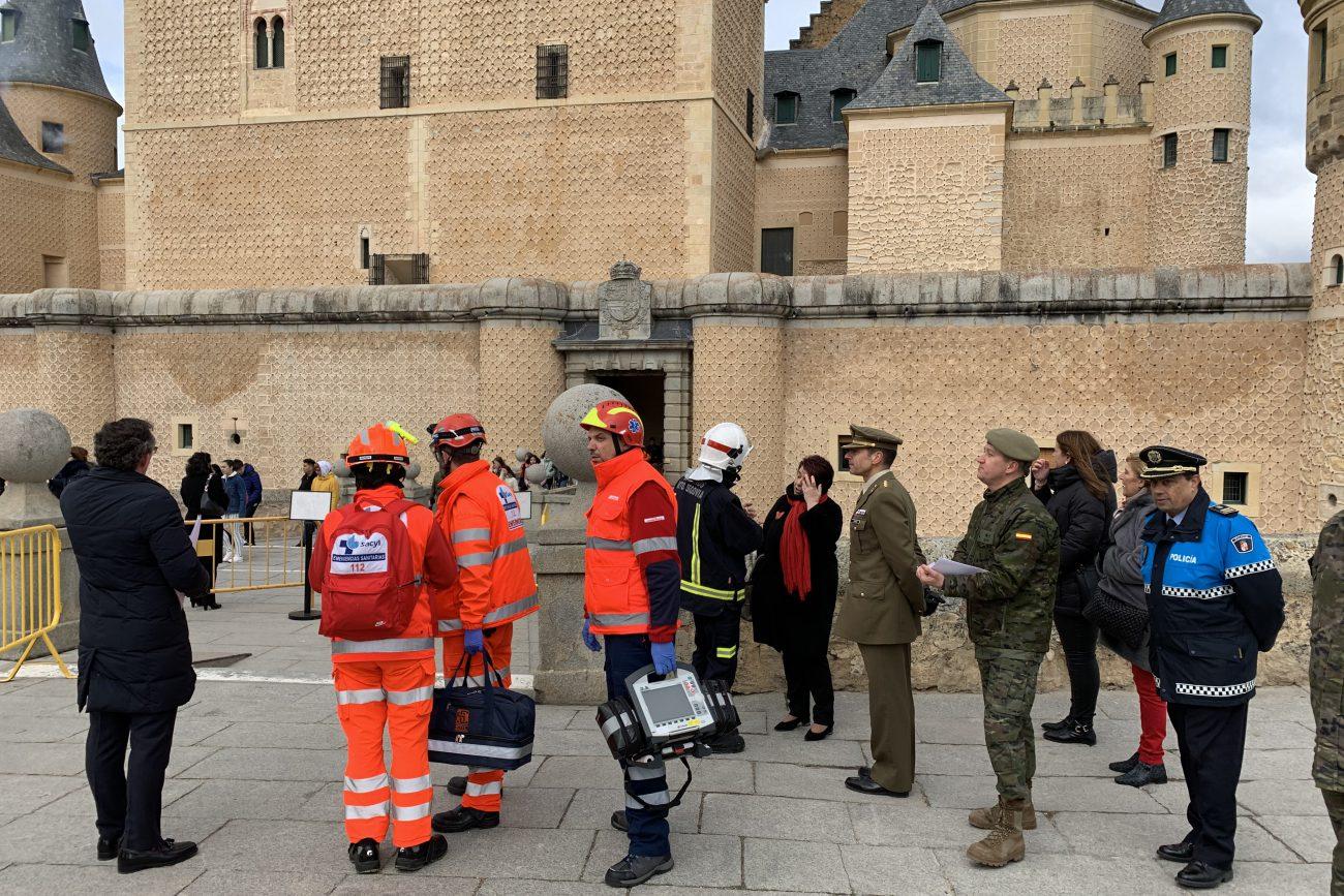 Simulacro de emergencia en el Alcázar 06-03-2020 (1)