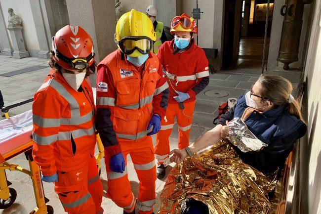 Simulacro de emergencia en el Alcázar (4)