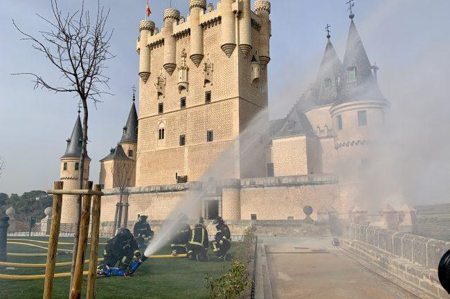 Simulacro de emergencia en el Alcázar (6)