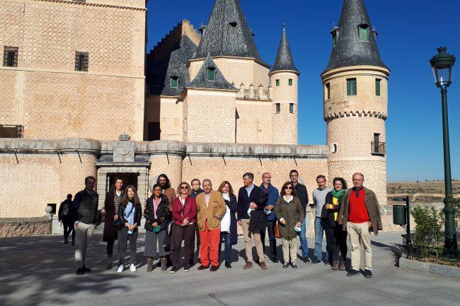 Visita del COACYLE a los espacios bajocubiertas del Alcázar (1)